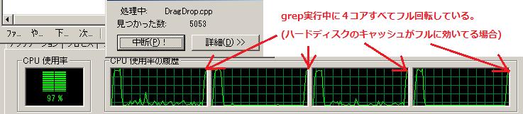 grep中CPU使用率